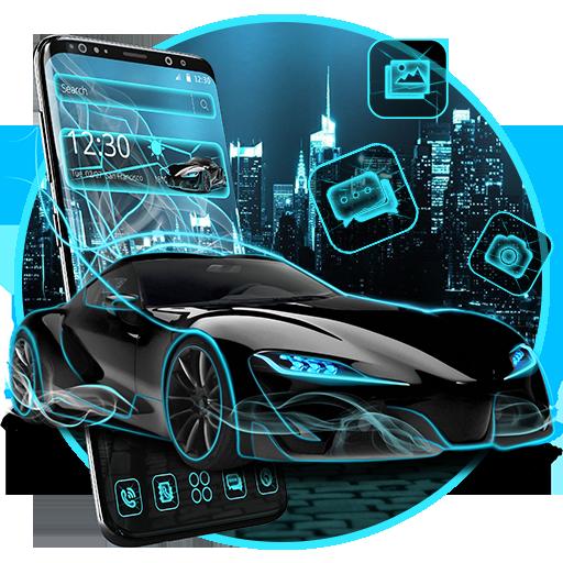 Neon Sports Car Theme