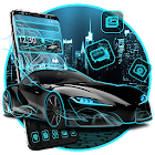 Neon Sports Car Theme icon