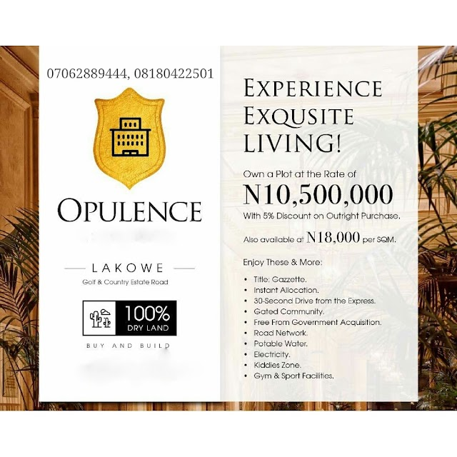OPULENCE ESTATE, LAKOWE, AJAH(LAND FOR SALE)