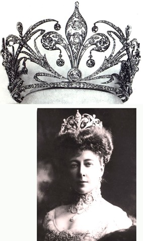 Tiara de Estefanía de Bélgica, nuera de Sissi, viuda de su hijo Rodolfo