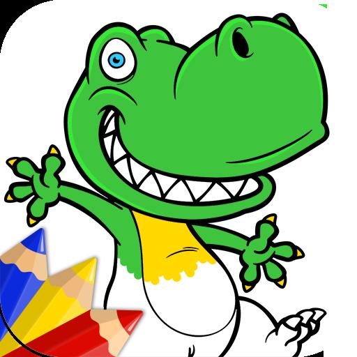 恐龙儿童游戏:着色 教育 App LOGO-硬是要APP