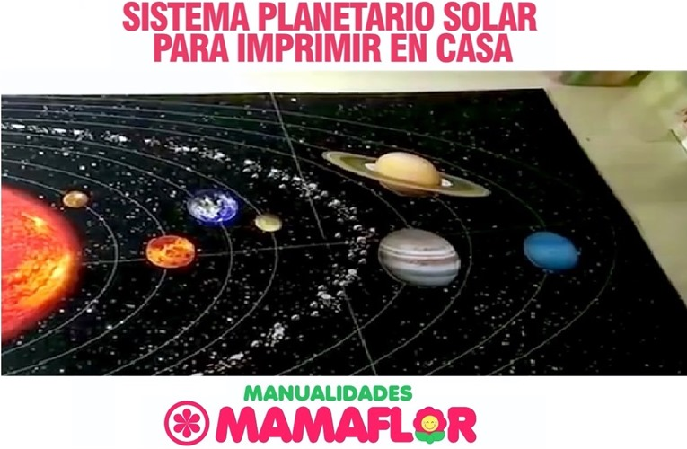 Imprimibles: 8 Planetas del Sistema Solar