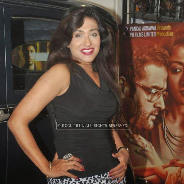 Rituparna Sengupta during premiere of Bengali movie Sada Canvas held in Kolkata.