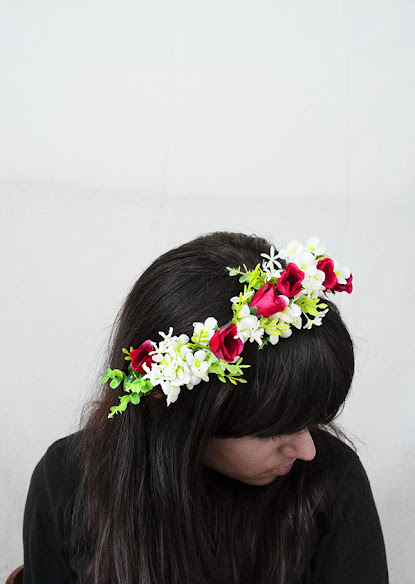 Tutorial DIY diadema o corona de flores - Enemy Dolls