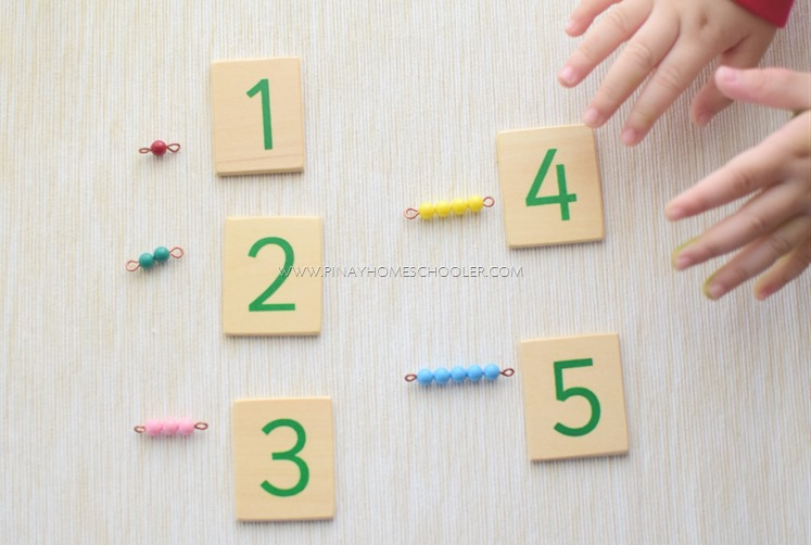 Matching Short Bead Stair to Numerical Symbols