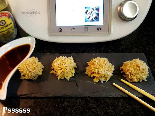 Bolas de arroz al vapor en thermomix ®
