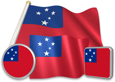 Samoan flag animated gif collection