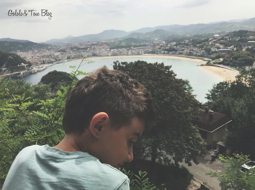 Vistas de Donostia desde el MOnte Igueldo