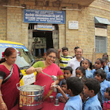 Milk Distribution @ Basavangudi High school on 01.08.2013