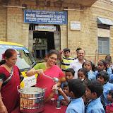 Milk Distribution @ Basavangudi High school on 01.08.2013