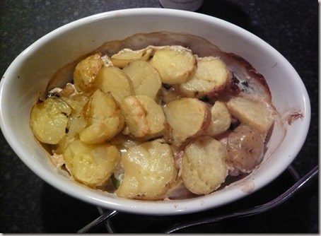 chicken, leek and mushroom hotpot4