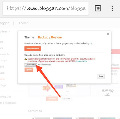 How to Change blogger template on mobile full guide in hindi 2020