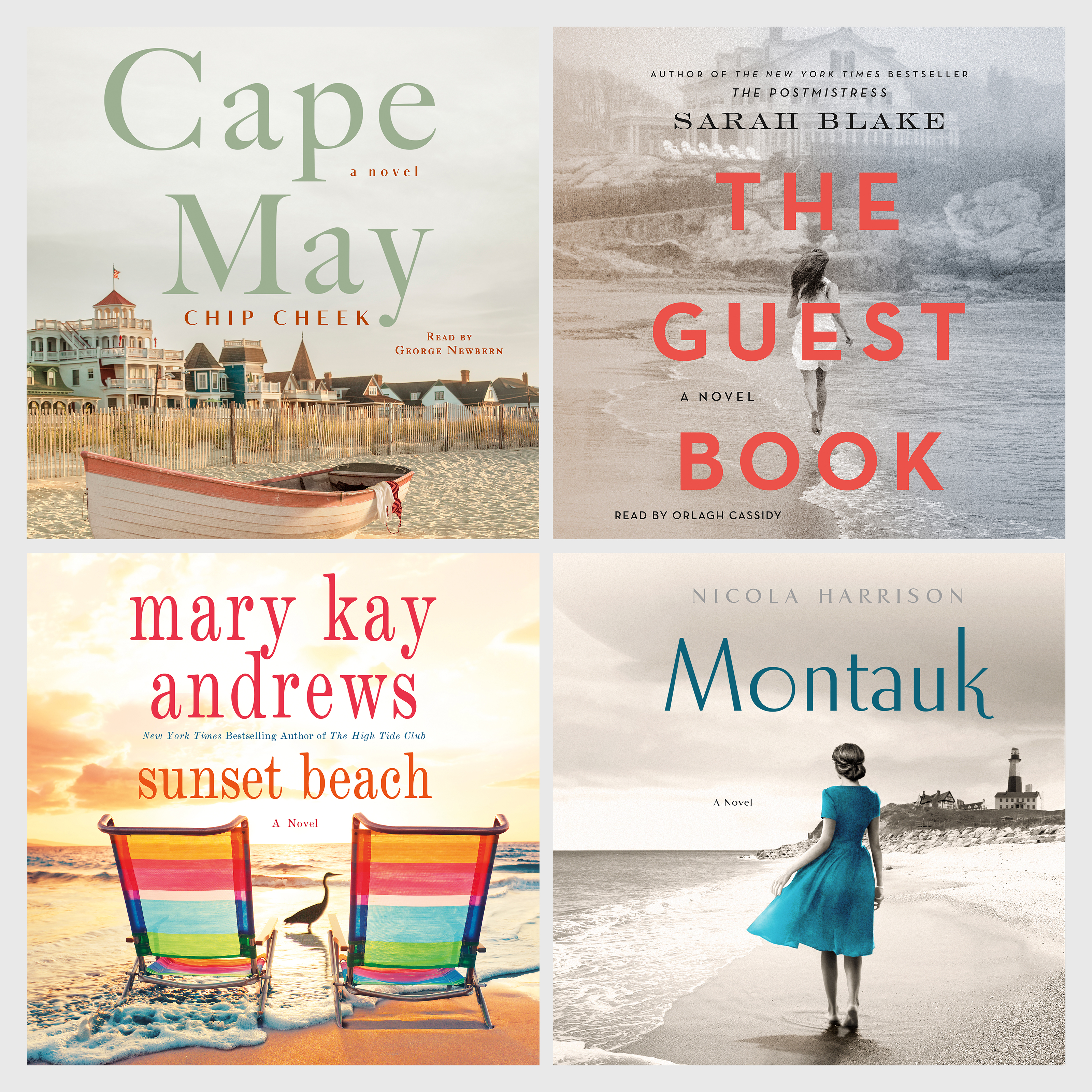Cape May digital audio download, The Guest Book digital audio download, Sunset Beach CD, Montauk CD