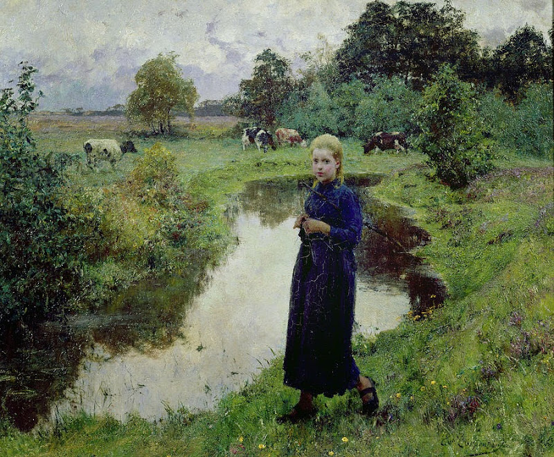 Evariste Carpentier - Young Girl In The Fields