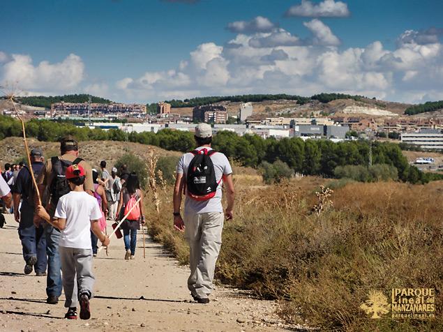 Por el camino de la Salmedina, Rivas-Vaciamadrid al fondo