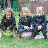Samen poseren in de tuin