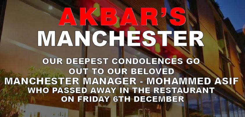 Mohammed Asif Manchester Branch manager condolences page