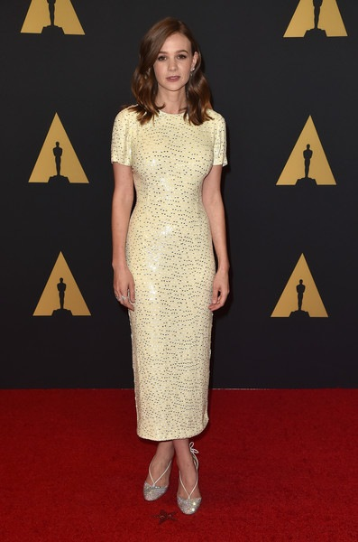 Carey Mulligan attends the Academy of Motion Picture Arts and Sciences