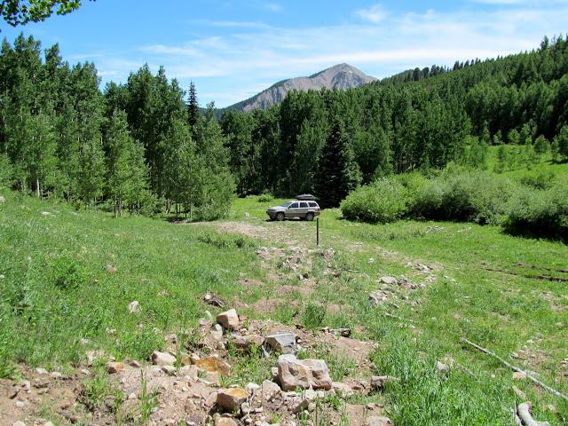 Jeep at the trailhead