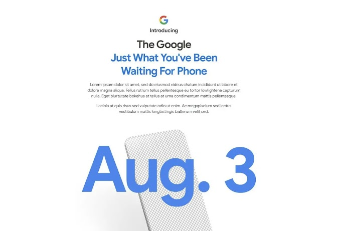Google Pixel 4a To Be Launched On 4th Of August - khabartechki.com