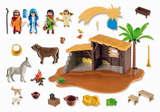 Contenido real de Playmobil® 5588 Belén