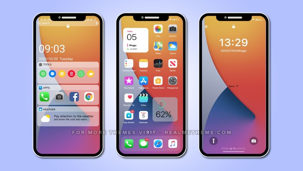 iOS 14 Theme for Realme UI and ColorOS Based Devices
