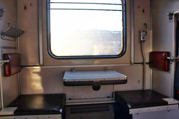 Third class seats on a Russian train - Trans Siberian