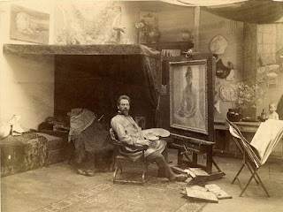 Julius Rolshoven in his studio