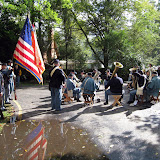 A concert by the 5th MI on the soggy grounds of Speigel Grove