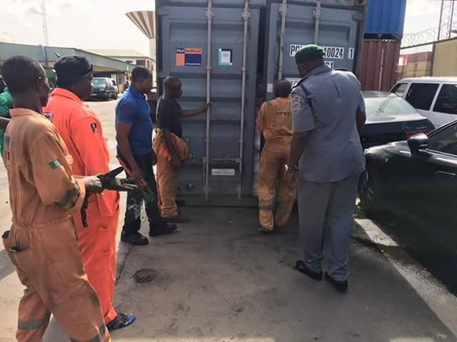 Again…Nigeria Customs intercepts container load of arms in Lagos Port