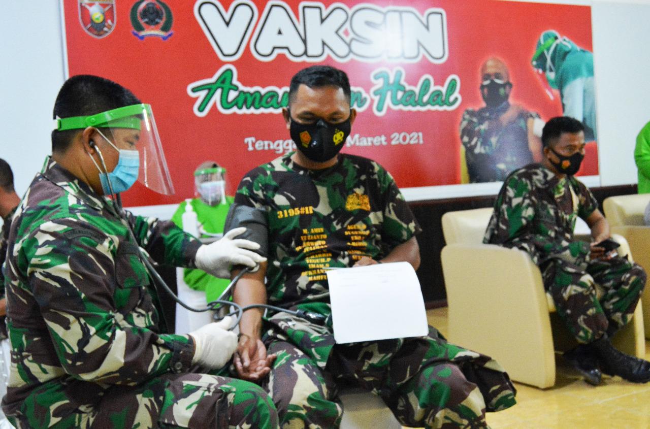 Hari ke- 3 Vaksinasi di Kodim Tenggarong Memaksimalkan Pelaksanaannya