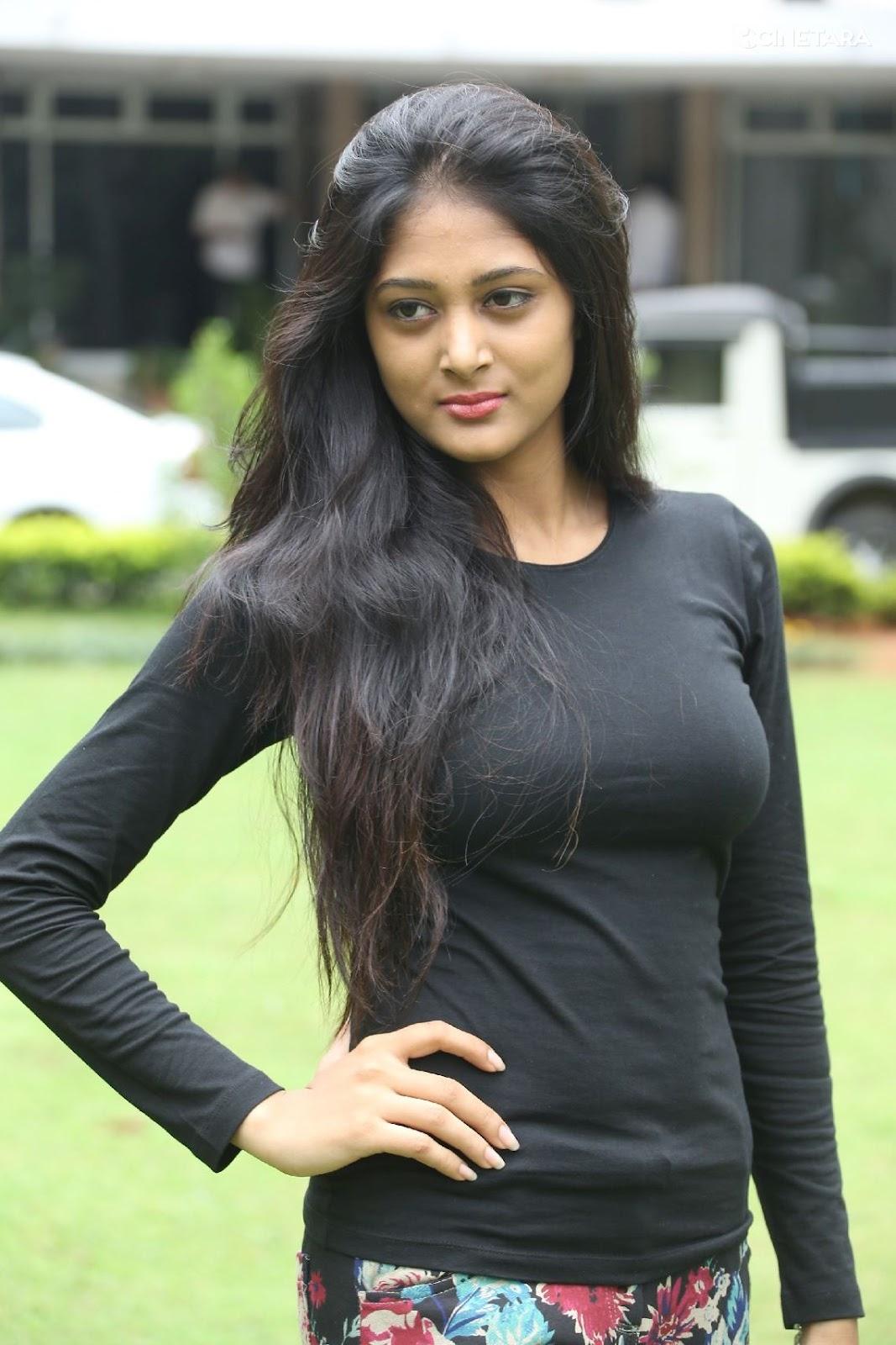 Sushma Raj Actress So Spicy Pics In Black Dress - Cinebulkblogspotcom-8415