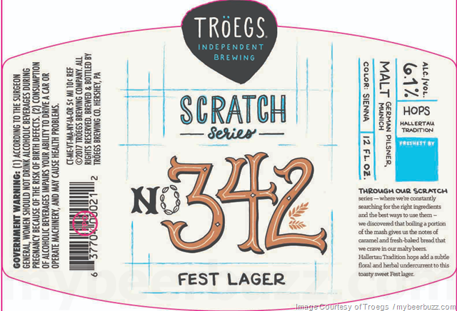 Troegs Scratch 342 Will Be a fest Lager