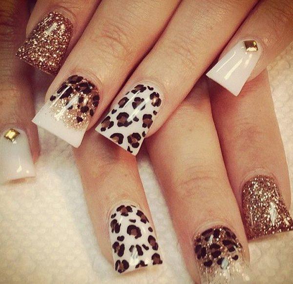 Cheetah Nail Art For Women 2015 Styles 7