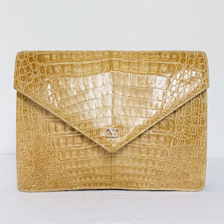 Valentino Vintage Crocodile Handbag