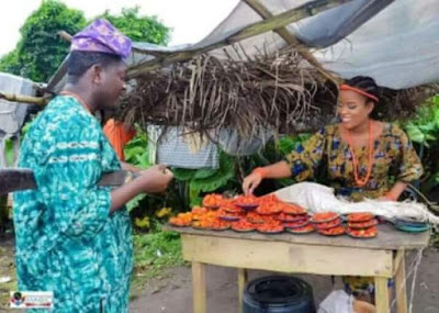 Nigerian couple wows everyone with awesome village themed pre-wedding photos