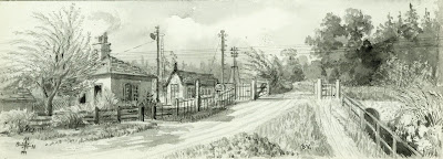 """""""The boundary line between Shelford Parva and Hauxton is one field beyond the railway line."""" From A Record of Shelford Parva by Fanny Wale P31"""