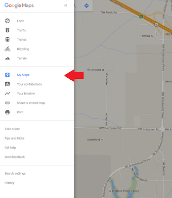 Guide to Planning A Trip: Mapping. To create your own Custom google maps, click on My Maps in the Google Maps menu.