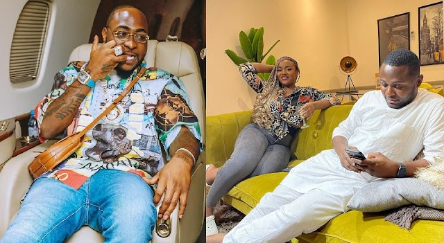 """""""Why so much space between you guys"""" – Reactions as Ubi Franklin gives Davido's Chioma Space [Photos]"""