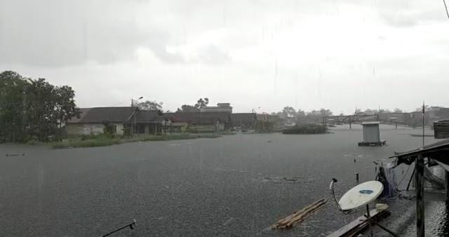 Banjir di Desa Sardangan Tanah Bumbu Airnya Tak Sekedar 'Lalu Haja'
