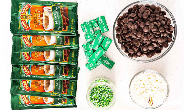 Mint Hot Cocoa Bombs ingredients