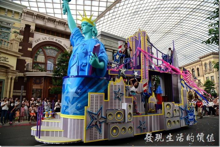 日本大阪-環球影城。記得上次也有自由女神像。