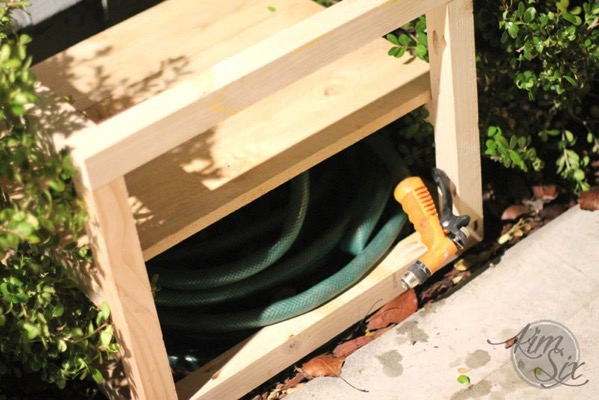 Storing Hose inside flower planter