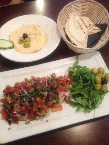 Mediterranean starters at Turquoise Turkish in Cheadle, Manchester