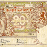 Belgian banknotes part 1