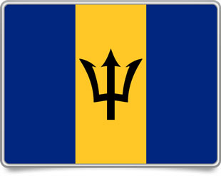 Barbadian framed flag icons with box shadow
