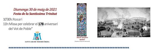 """30-5-2021: Santíssima Trinitat i el """"Vot de Poble"""" a Reus"""