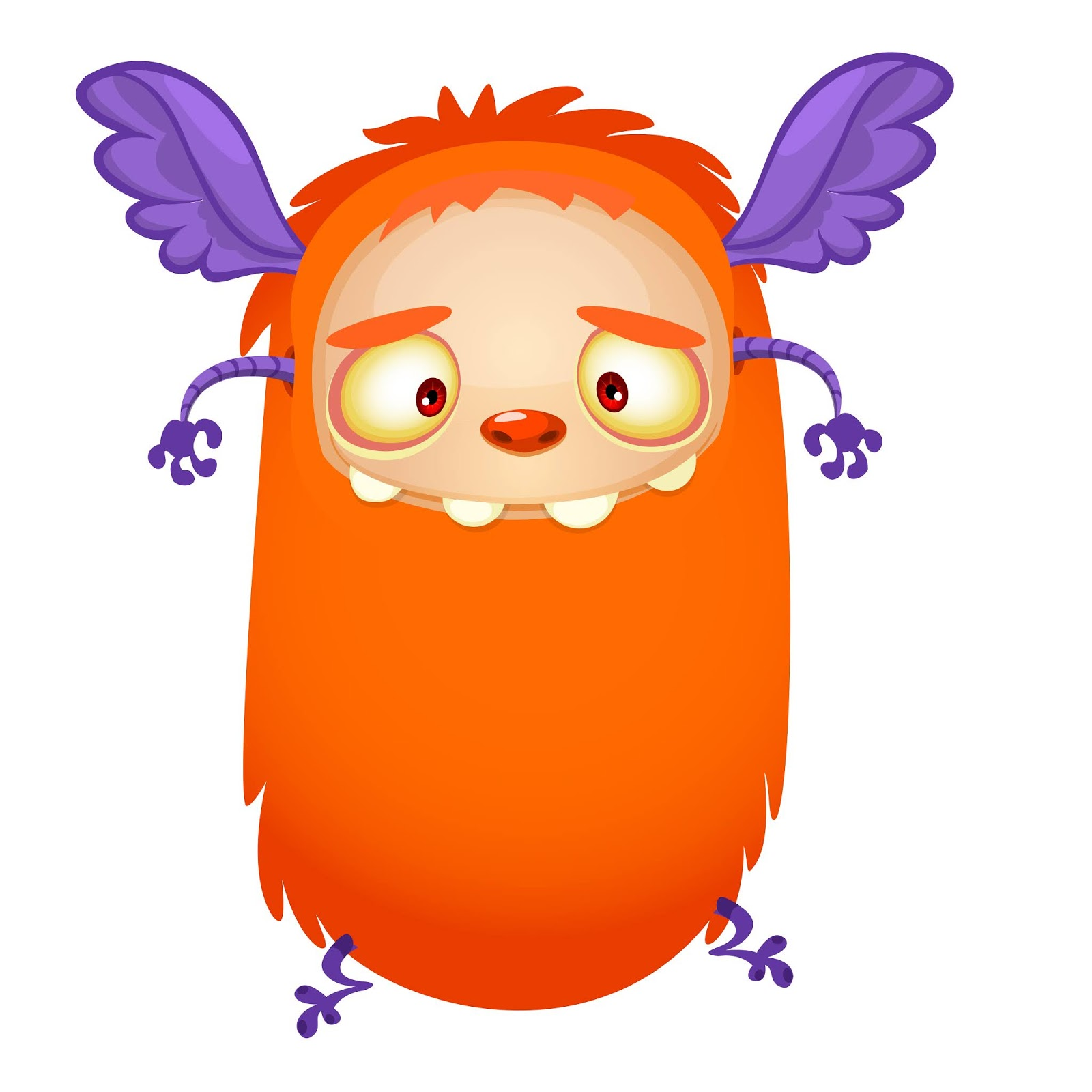 Happy Cartoon Flying Orange Monster Free Download Vector CDR, AI, EPS and PNG Formats