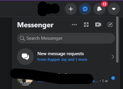 Private message for a Facebook profile