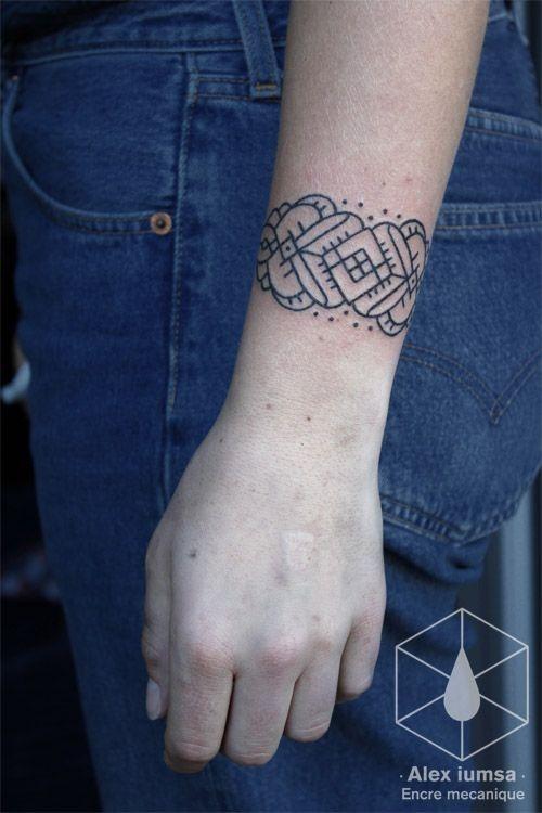 padres_simples_pulseira_de_tatuagem